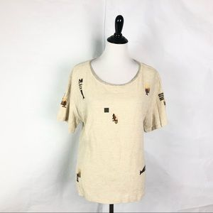 Play Alegre Hand painted Top Art To Wear Blouse